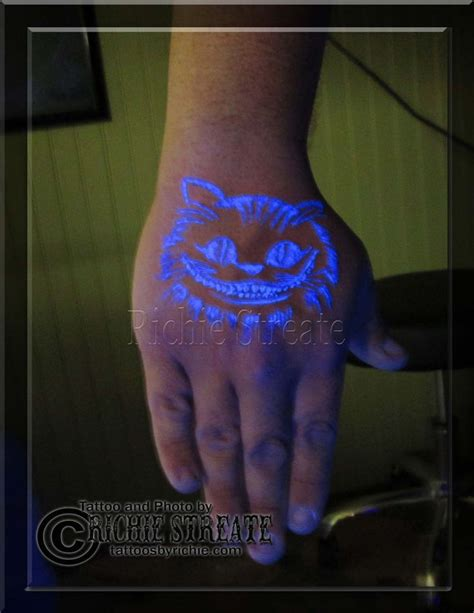 uv tattoo cheshire cat 16 best images about uv blacklight tattoos by richie