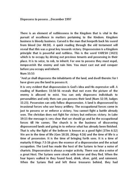 Dispossess to Possess | Joshua | Samson