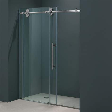 Vigo Vg6041 Cl6474 64 Inch Frameless Shower Door With Clear Glass Shower Door