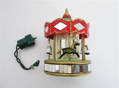 christmas decor from motor parts noma ornamotion carousel horses merry go tree rotating decoration with motor