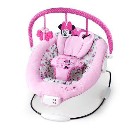 minnie mouse baby swing disney baby minnie mouse garden delights bouncer walmart