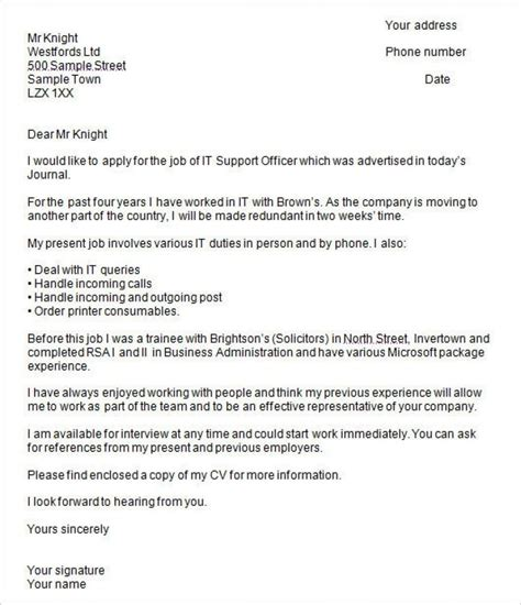 cover letter template uk cover letter job