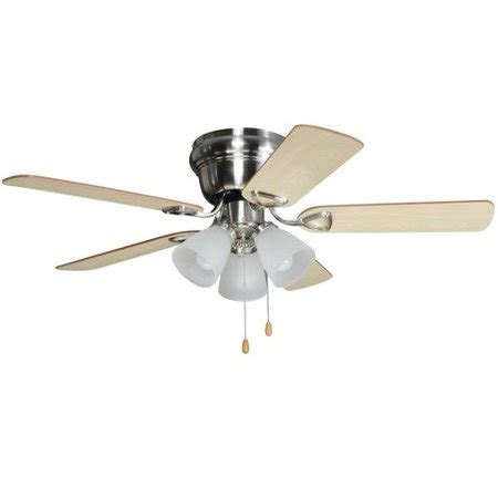 walmart ceiling fans with lights chapter 42 quot 3 light satin nickel ceiling fan walmart com