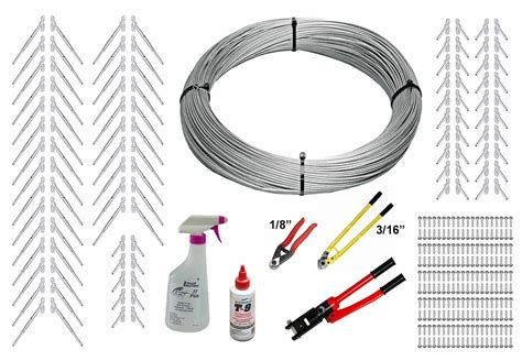 Cable Banister Kit by Surface Mount Cable Railing Kit 1000ft