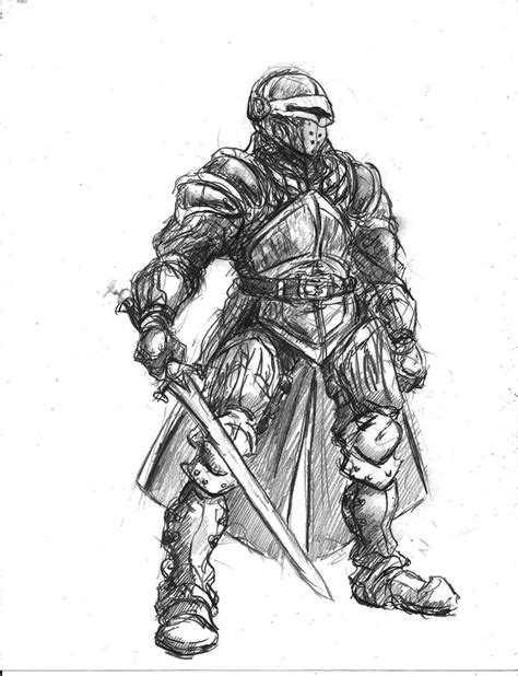 knight concept 01 by thelivingshadow on deviantart
