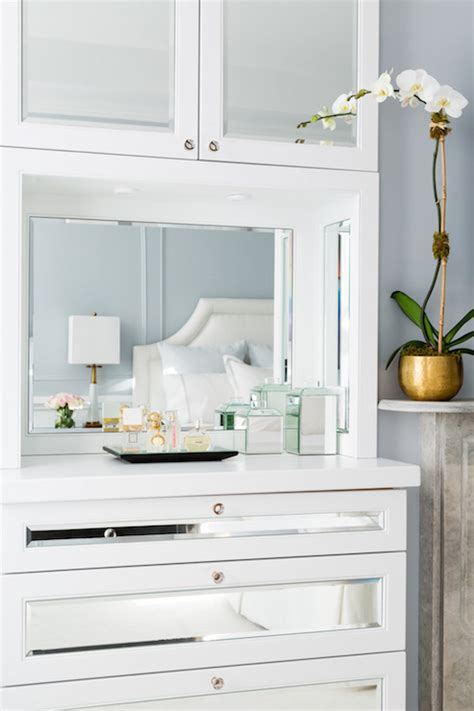 Built In Bedroom Dresser by Built In Mirrored Dresser Transitional Bedroom