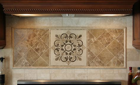 kitchen medallions for backsplash hegle tile kitchens tile backsplash medallions and