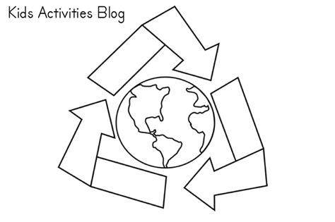 recycle coloring pages preschool earth day coloring pages 5 coloring kids