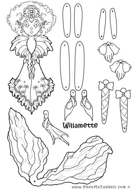 willamette puppet coloring page