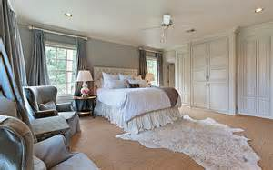 Curtains With Gray Walls Gray Silk Curtains Transitional Bedroom Cote De Texas
