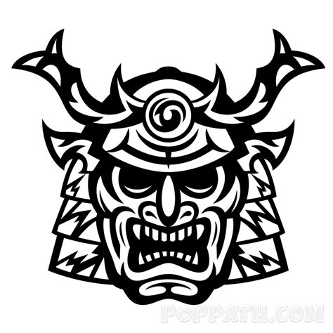 samurai tribal tattoo how to draw a samurai tribal pop path
