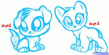 Cute cartoon characters with big eyes art design gallery litle pups