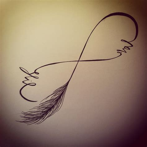 feather infinity tattoo feather infinity design