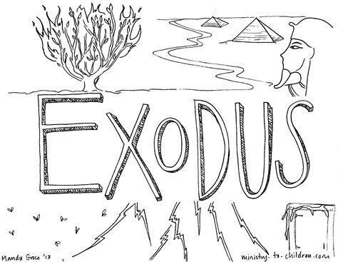 Printable Coloring Pages Exodus | quot book of exodus quot bible coloring page for children