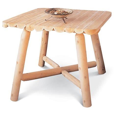 Cedar Dining Tables Rustic Cedar Furniture Company 174 Cedar Log Square Dining Table 107340 Kitchen Dining