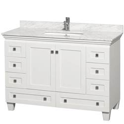 bathroom vanity cabinets white 48 quot acclaim 48 quot single bathroom vanity set by wyndham