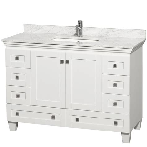White Vanity Cabinets For Bathrooms 48 Quot Acclaim 48 Quot Single Bathroom Vanity Set By Wyndham Collection White Bathroom Vanities