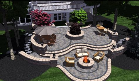 3d patio design with pit homescorner