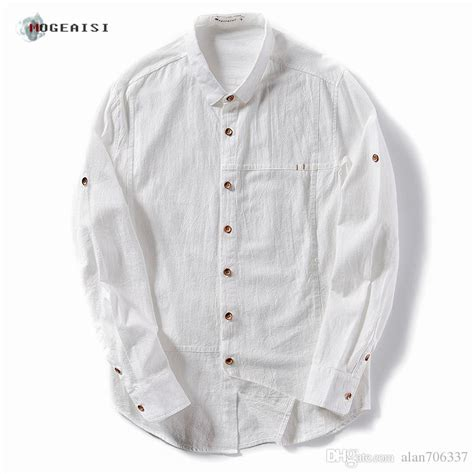 Linen Cotton Sleeve Shirt 2017 s cotton linen shirts rolled sleeves summer solid