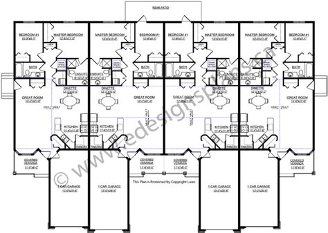 4 Plex House Plans 4 Plex Plan 2011583 Edesignsplans Ca