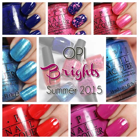 opi gel color chart 2015 opi brights 2015 swatches review all lacquered up