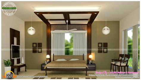 master bedrooms  kitchen interior kerala home design
