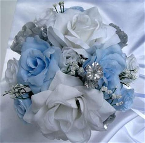 light blue and silver wedding light blue silver roses and dreams