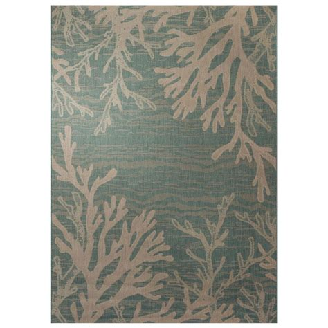 Hton Bay Outdoor Rugs Hton Bay Reef 5 Ft 3 In X 7 Ft 4 In Indoor Outdoor Area Rug 303830401602251 The Home Depot