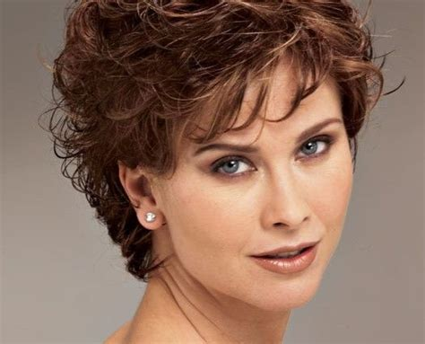 curly hairstyles for round faces over 40 shoet hair styles for women over 50 short curly