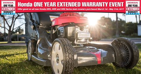 2017 honda lawn mower extended warranty event lawn mower