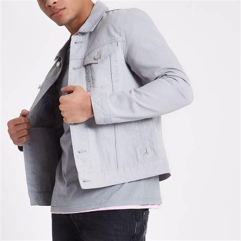 light denim mens light grey denim jacket jackets coats jackets