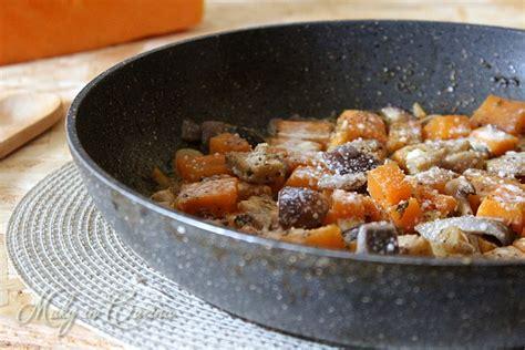 come cucinare i funghi chignon in padella zucca e funghi in padella ricetta contorno veloce
