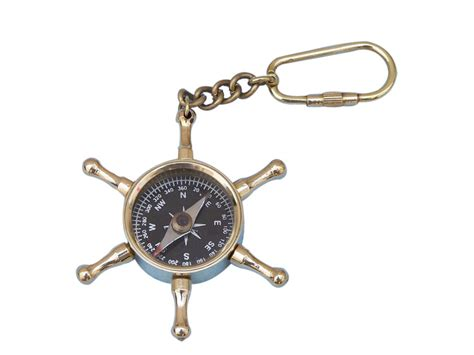 Wholesale Nautical Decor by Buy Solid Brass Ship S Wheel Compass Key Chain Wholesale