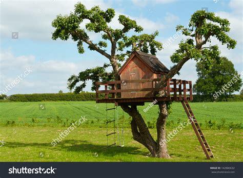 music house for children beautiful creative handmade tree house kids stock photo 142880632 shutterstock