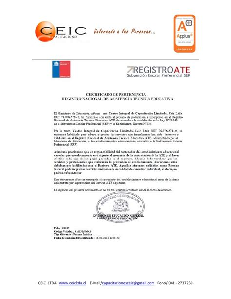Plantilla De Curriculum Empresarial Curriculum Empresa Ceic Ltda