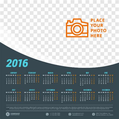 layout calendar design 2016 2016 company calendar creative design vector 07 welovesolo