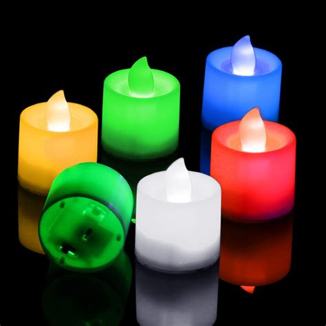 Battery Powered Flameless Led Candle Flickering Tea Light New Flameless Flickering Led Tea Light Candles Battery Operated Tealights Ebay