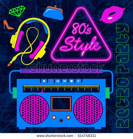 80 s love songs medley free download 80s retro neon style elements colorful stock vector