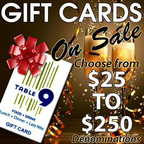 Ny Co Gift Card - need a gift idea for the holidays in westchester county how about a table 9 gift