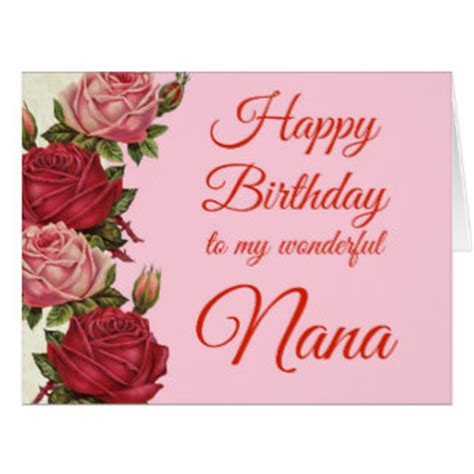 Happy Birthday Nana Cardsss Happy Birthday Nana Gifts On Zazzle