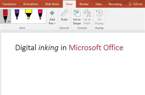 Draw And Write With Ink In Office Office Support Digital Office Pro