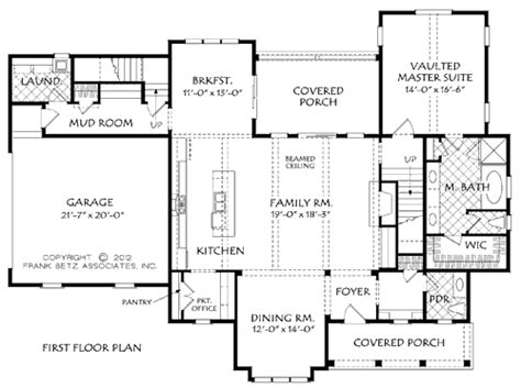 house plans with office lakeside house floor plan frank betz associates
