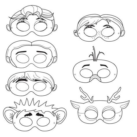 printable masks to decorate frozen printable character masks color and decorate at