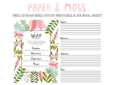 printable time journal s o a p bible study free a5 filofax printable paper