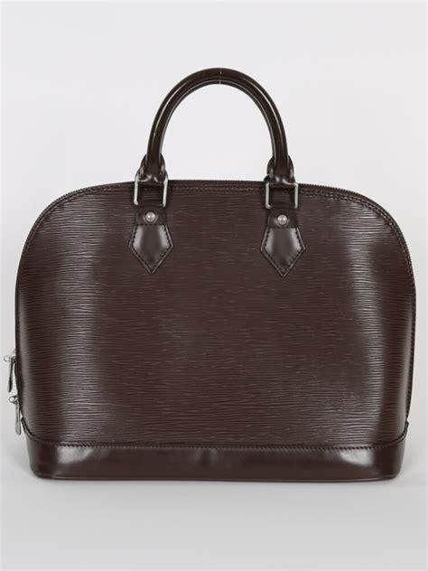 Louis Vuitton Epi Leather Pm by Louis Vuitton Alma Pm Epi Leather Mocca Luxury Bags