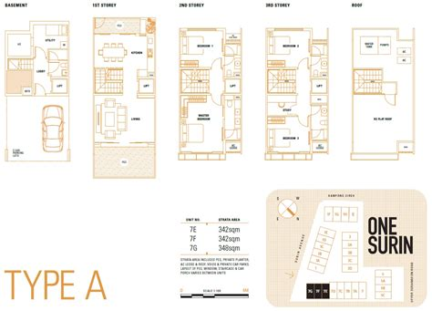 one surin floor plan one surin cluster terraced house in district 19