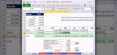 How To Calculate Commission Based On Varying Rates In Excel 171 Microsoft Office Wonderhowto Sales Commission Rates Template