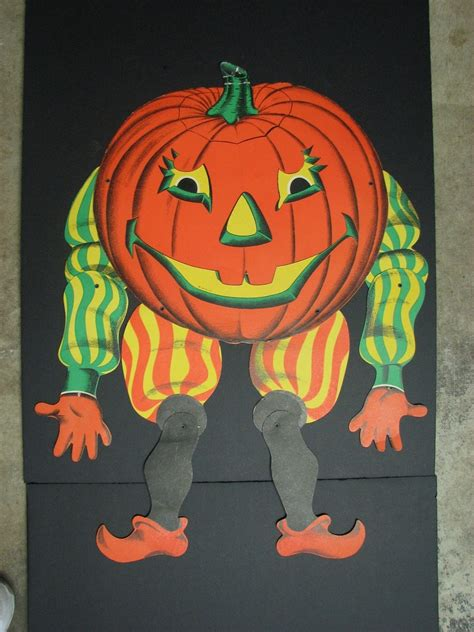 Vintage Halloween Paper Decorations Vintage Beistle Halloween Jack O Lantern Die Cut