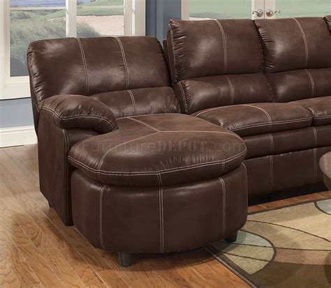 Brown Microfiber Sectional With Recliner Rustic Brown Microfiber Reclining Sectional W Baseball
