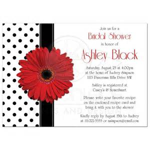 gerbera bridal shower invitations bridal shower invitation gerbera polka dot
